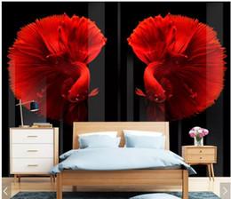 $enCountryForm.capitalKeyWord Australia - WDBH 3d wallpaper custom photo HD embossed modern retro personalized color fish decor living Room 3d wall murals wallpaper for walls 3 d