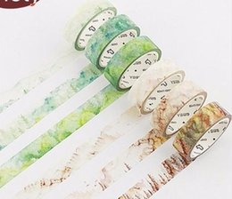 Wholesale 1 cm m Season landscape Natural plant washi tape DIY decorative scrapbooking sticker planner adhesive tape label
