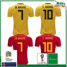 World Cup 2018 2019 Belgium Home Away Men s Soccer Jerseys Hazard De Bruyne  Futbol Camisa Belgique National Camisetas Shirt Kit Maillot 6c5e23709
