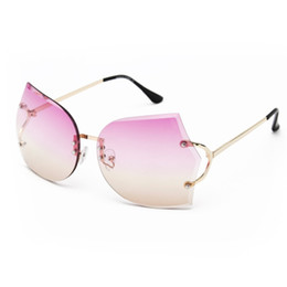 Discount clear sunglasses free shipping - New Arrival Girl Unique Rimless Sunglasses Women Retro Ombre Lens Glasses Eyeglass Frame For Free Shipping