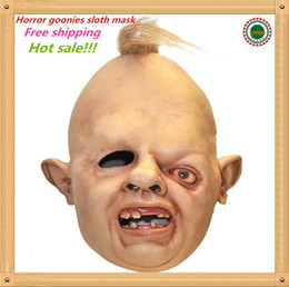 about face mask Canada - Hot sale Details about Halloween Costume Sloth Goonies Movie Horror Dress Up Latex Party Masks free shipping WL1163