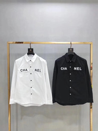 $enCountryForm.capitalKeyWord Australia - Newest Fashion Office Lady White and black Shirt Women's Blouses 2019 Single Breasted Big Pockets Designer long sleeve Tops