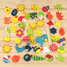 Magnets Wooden Animals Australia - Creative 2016 Wholesale 12pcs(1Pack) Lot Cartoon Funny Baby Toy Wooden Fridge Magnet Refrigerator Magnets Gift Hot Sale C18122201