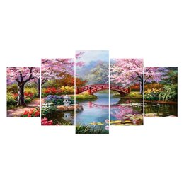 Chinese  5pcs Multi-picture 5D Diy Diamond Painting Tree&Flower 3D Diamond Painting Full beadwork pictures of Rhinestone Embroidery HYY manufacturers