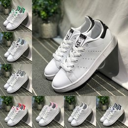 Girls plastic shoes online shopping - 2019 New Originals Stan Smith Shoes Women Men Sneakers Casual Leather Skateboard Punching Black Red Green White Girls Superstars Shoes