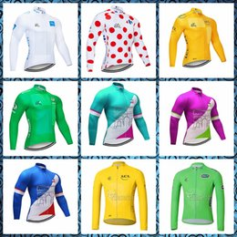 Bicycle Sales NZ - TOUR DE FRANCE men spring autumn Cycling long Sleeves jersey trend hot sale Comfortable Bicycle equipment Clothes 61524
