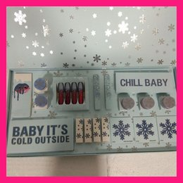 2018 New Christmas Holiday Collection Makeup Set CHILL eyeshadow palette BABY IT'S COLD OUTSIDE gift makeup sets lipstick set highlighters