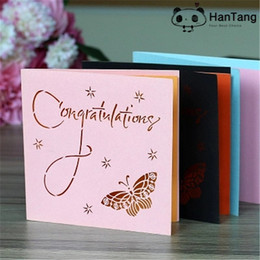 Sample 1pcs Fashion Hollow Greeting Cards Students Creative Small Valentine Birthday Card Postcard 5Z SH234