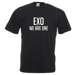 Exo T Shirts Australia - EXO We Are One Inspired Korean K Pop Viral Trend T Shirt