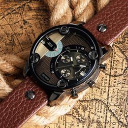 $enCountryForm.capitalKeyWord Australia - Luxury Leather Men's Business Watach Band Strap Wholesale Quartz New Military Quartz Watch Man Big Face Wristwatch Date Display Mens Watches