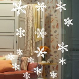 snowflake wall stickers NZ - Fashion Christmas Snowflake Window Sticker Christmas Wall Stickers Kids Room Wall Decals Christmas Decorations for Home New Year