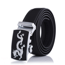 Automatic Buckle Leather Belt Crocodile UK - Belt men's automatic buckle belt new fashion leather pants with stalls night market Chinese dragon animal spot sufficient