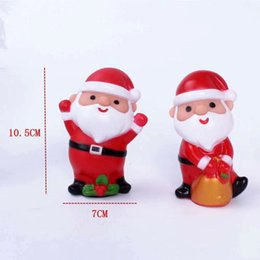 silicone cakes decoration NZ - 2019 new pvc toys Christmas cake decoration ornaments silicone doll toy gift Santa decoration theme cake decoration