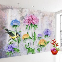 home decor drop ship Australia - Drop Shipping Custom Mural Wallpaper Nordic Personality Modern Floral Flowers Background Wall Photo Wall Papers Home Decor