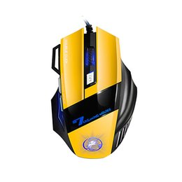 Computer Backlight UK - iMICE X7 Double Click 7 Buttons USB Wired Optical Computer Game Mouse Respiratory LED Backlight Gaming Mice