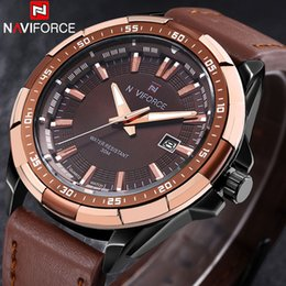 $enCountryForm.capitalKeyWord NZ - 2018 New Naviforce Brand Men Quartz Watches Leather Waterproof Analog Watches Mens Date Casual Clock Rome Time Relogio Masculino J190702