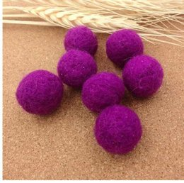 Wholesale Pink Purple Color Handmade wool felt ball Beads mm DIY Woven Balls Without Hole for Grils Hair Jewelry Making