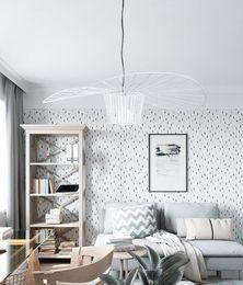 Light straw hats online shopping - Nordic style designer chandelier personality art post modern simple hat straw hat chandelier creative model room lamp