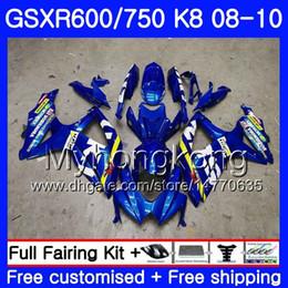 gsxr fairing red white 2019 - Body For SUZUKI GSX-R600 GSXR 750 600 600CC GSXR600 08 09 10 297HM.0 GSX R600 R750 GSX-R750 K8 GSXR750 2008 2009 2010 Fa