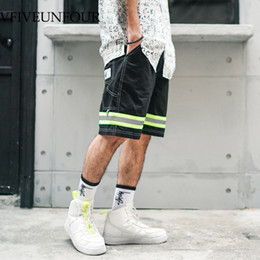 clothing loose draped 2020 - VFIVEUNFOUR 2019 New arrivals 3M Reflective Stripe fashion shorts men hip hop clothing Summer casual shorts Trousers che