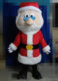 Wholesale father christmas costumes online – ideas 2020 new High quality the head red Father Christmas mascot suit for adult Santa Claus cartoon costume