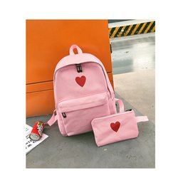 $enCountryForm.capitalKeyWord Australia - 5pcs Fabre backpack Girls Boys Letter School Bag Travel Backpack Satchel Women Shoulder Rucksack backpack maternity Cosmetic bag Female bag