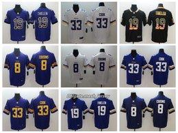 830b4a539 Men Minnesota Jersey Vikings 19 Adam Thielen 33 Dalvin Cook 8 Sam Bradford  Color Rush Football Stitching Jerseys Embroidery Logo