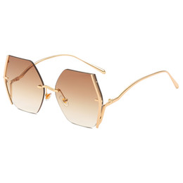 $enCountryForm.capitalKeyWord UK - Man Europe and the United States Big box Sunglasses Retro box Personality Sunglasses ladies personality gold frame top sun visor ocean lens