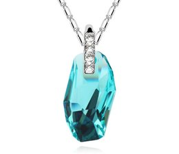 $enCountryForm.capitalKeyWord UK - Made in China fashion jewelry Woman Originality Ornaments Using Swarovski Elemental Crystal Necklace Moonlight music wholesale Pendant