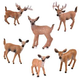 $enCountryForm.capitalKeyWord Australia - 1pcs Artificial Mini Sika Deer Animal Miniature Figurines Toys Fairy Garden Miniatures Home Decor Gift For Kids C19041601