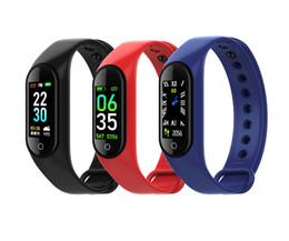 Smart watcheS dhl online shopping - M4 Smart Bracelet Fitness Tracker PK Mi band Fitbit Style Sport Smart Watch inch IP67 Waterproof Heart Rate Blood Pressure Free DHL