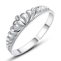 Silver Bangle Bracelet For Girls Australia - Elegant Silver Crown Cuff Bangles Bracelets Adjustable for Beauty Women Girls Opening Bracelet for Women Factory Direct Wholesale Gift
