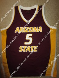 Cheap custom Arizona State Sun Devils  5 ASU Basketball Jersey Stitched  Customize any number name MEN WOMEN YOUTH XS-5XL 15e347c7f