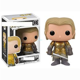 fire toys NZ - Q Version Creative POP Game of Thrones A Song of Ice and Fire Jaime Lannister Birthday Gift PVC Action Collectible Model Toy 10CM BOX G550