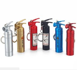 $enCountryForm.capitalKeyWord Australia - Newest Fire extinguisher Style Usb Lighters Rechargeable Electronic Cigarette Smoking Windpoof Lighters With Keychain Multiple Colors Sale