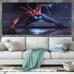 spider spray NZ - Iron Spider Man Art Poster Wall Art Prints oil painting on 3 Piece Canvas Picture Wall Painting For Living Room No Frame