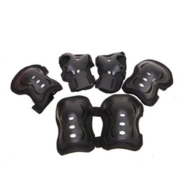 Skateboards Gear UK - 6Pcs Kid Roller Skating Skateboard Children Sports Protection Sets Elbow Knee Pads Wrist Protective Guard Gear Pad Cycling #220382