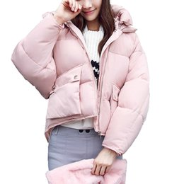 $enCountryForm.capitalKeyWord NZ - Winter Coat women 2019 Long sleeve Hooded Short Padded Down Jacket Parka Female Girls Cotton Coats Women Clothing Plus size S19907