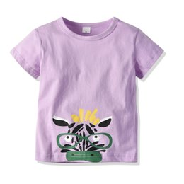 $enCountryForm.capitalKeyWord Australia - Latest Infant Baby Children's wear Summer Boy Abstract the little donkey Purple shirt Design Cartoon T- shirt block shirts
