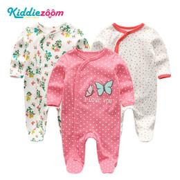 $enCountryForm.capitalKeyWord Australia - 2019 2 3pcs Bodysuits Girls Clothing One-pieces Baby Boy Clothes 0-12m Cotton Baby Girl Clothes Newborn Star Striped Ropa Bebe Y19061201