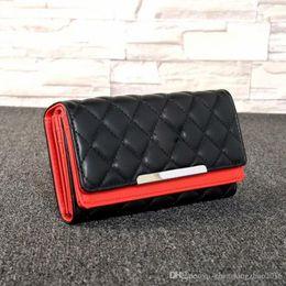Cheap designers ladies handbags online shopping - new designer luxury handbag purse simple rhombic wallet famous brand fashion single zipper cheap luxury designer women pu leather wallet l