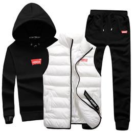 $enCountryForm.capitalKeyWord Australia - 3 in 1 Hoody Sweatshirt Men Pants Vest 3 Piece Warm Fleece Brand Hoodie For Men Set Coat Jogger Sports Suit Hooded Pullover Male #121717