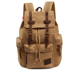 $enCountryForm.capitalKeyWord UK - Men Canvas Bags cotton Fashion Retro Women Boys Girls men's bag backpack Computer Leisure student bag
