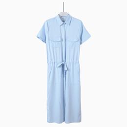 Korean Shirt Dress UK - Fashion-2016 Summer New Pattern Korean Short Sleeve Shirt Vent Dress Bow Chalaza Goddess Longuette Tide Clothing Ladies Work Dresses