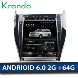 "Multimedia Player For Car Australia - Krando Android 6.0 12.1"" Vertical screen car DVD multimedia player GPS for Toyota Harrier navigation navigation entertainment BT"