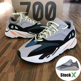 Venta al por mayor de 700 Runner 2019 Nuevo Kanye West Mauve Wave Hombres Mujeres Atlético Mejor calidad 700s Zapatillas deportivas para correr Zapatillas de diseñador con caja