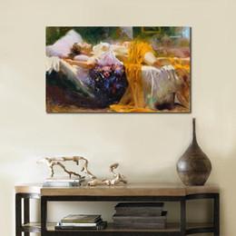 $enCountryForm.capitalKeyWord Australia - Free Shipping Sleeping Beauty by Pino Daeni Handpainted HD Print famous Impressionist Art Oil Painting On Canvas Mulit customized size 21.67