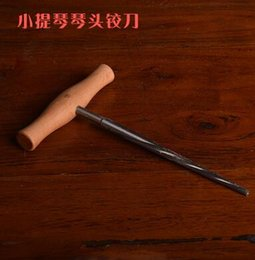 violin pegs UK - Violin reamer piano head pegs cutter piano box tail hole drill viola production repair tools
