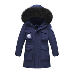 6fcf06a04b9 Winter Boys Thickened Warm Down Jackets -30 Degrees Boys Big Raccoon Fur  Collar Hooded Down   Parkas Kids Down Coats