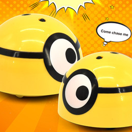 wholesale plastic minions Australia - New product Runaway Minion Intelligent Escaping Infrared Sensor ESCAPING TOY Intelligent Runaway Kids Toy Christmas gift For Minions
